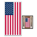 The Holiday Aisle® Patriotic American Flag Door Mural Plastic in Blue/Red, Size 30.0 H x 60.0 W x 0.01 D in | Wayfair THLA1330 39060220