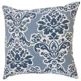 The Pillow Collection Uvatera Damask Bedding Sham Cotton Blend in Blue/White, Size 26.0 H x 26.0 W x 8.0 D in | Wayfair
