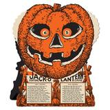 The Holiday Aisle® Halloween-Vintage J-O-L Fortune Wheel Game in Black/Orange, Size 9.0 H x 7.5 W x 1.0 D in   Wayfair THLA7314 40479828
