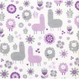 Trend Lab Llama Friends Deluxe Flannel Fitted Crib Sheet Cotton, Size 10.0 H x 28.0 W x 52.0 D in   Wayfair 102733
