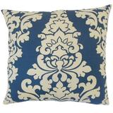 The Pillow Collection Wilona Damask Bedding Sham 100% Cotton in Blue, Size 26.0 H x 26.0 W x 8.0 D in | Wayfair EURO-PP-BERLIN-INDIGOLAKEN-C100