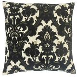The Pillow Collection Beonica Damask Bedding Sham Cotton Blend in Black, Size 26.0 H x 26.0 W x 8.0 D in   Wayfair EURO-MER-M8255-DOMINO-R62P20C18