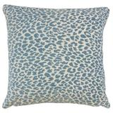 The Pillow Collection Pesach Animal Print Bedding Sham Polyester in Blue, Size 26.0 H x 26.0 W x 8.0 D in   Wayfair EURO-BAR-M9818-DELFT-P100