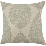 The Pillow Collection Lanza Damask Bedding Sham Polyester in Blue, Size 26.0 H x 26.0 W x 8.0 D in | Wayfair