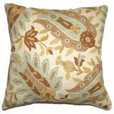 The Pillow Collection Gafsa Paisley Bedding Sham Cotton Blend in Blue/Brown, Size 30.0 H x 20.0 W x 5.0 D in   Wayfair QUEEN-42111-AQUA-C55L45