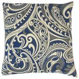 The Pillow Collection Natashaly Damask Bedding Sham Polyester in Blue, Size 36.0 H x 20.0 W x 5.0 D in   Wayfair KING-MER-M9307-NAVY-R39P33PP28