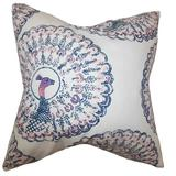The Pillow Collection Ieesha Animal Print Bedding Sham Cotton Blend in Blue, Size 26.0 H x 20.0 W x 5.0 D in   Wayfair