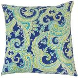 The Pillow Collection Fiachra Paisley Bedding Sham Cotton Blend in Blue, Size 30.0 H x 20.0 W x 5.0 D in   Wayfair