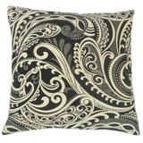 The Pillow Collection Natashaly Damask Bedding Sham Polyester in Black, Size 26.0 H x 26.0 W x 8.0 D in   Wayfair EURO-MER-M9307-DOMINO-R39P33PP28