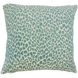 The Pillow Collection Pesach Animal Print Bedding Sham Polyester in Blue, Size 26.0 H x 26.0 W x 8.0 D in   Wayfair EURO-BAR-M9818-TEAL-P100