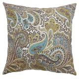 The Pillow Collection Dorcas Paisley Bedding Sham 100% Cotton in Brown, Size 26.0 H x 26.0 W x 8.0 D in   Wayfair EURO-PPF-PAISELY-CHOCOLATE-NAT-