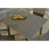 Uwharrie Chair Hourglass Wood Dining Table Wood/Metal in Yellow, Size 30.0 H x 48.0 W x 42.75 D in | Wayfair H092-073