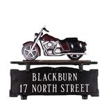 Montague Metal Products Inc. 2-Line Mailbox Sign Metal in Red, Size 11.0 H x 14.75 W x 0.32 D in | Wayfair CMSO-2-18-NC