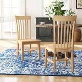 Mistana™ Lynn Slat Back Solid Wood Dining ChairWood in Brown, Size 40.0 H x 17.75 W x 22.0 D in | Wayfair 452333999B364002BBE4D7C947AF5D7D