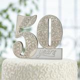 Le Prise™ 50th Anniversary Cake Topper in Yellow, Size 4.0 H x 3.5 W x 0.5 D in | Wayfair 97F3370CB1D44B30A71481585C46FD24