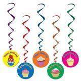 The Party Aisle™ 5 Piece Disposable Decoration Kit Set in Blue/Green/Pink   Wayfair 930B692D31F547D193E91FC67C2EA78C