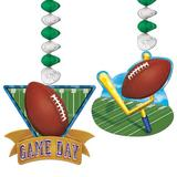 The Party Aisle™ Game Day Football Dangler Paper Disposable Hanging Decor Set Paper in Brown/Green   Wayfair 0478F0CE518741CAA80D3BF393DB0A9E