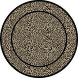 World Menagerie Edmont Animal Print Flatweave/Beige Area Rug Polypropylene in Black, Size 63.0 H x 63.0 W x 0.39 D in | Wayfair