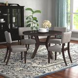 Red Barrel Studio® Kraemer 5 Piece Dining SetWood/Upholstered Chairs in Brown, Size 30.0 H x 48.0 W x 48.0 D in | Wayfair