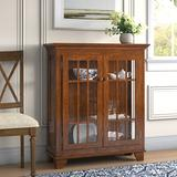 Darby Home Co Shelia Lighted Console Curio CabinetWood in Brown, Size 41.0 H x 38.0 W x 14.0 D in | Wayfair C81F61DA6AB447D0911AC48B42FF8AF3