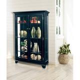 "Darby Home Co Shelia Lighted Curio Cabinet, Wood in Pirate Black, Size 58""H X 40""W X 14""D | Wayfair B8B3DAB8426F48C2A143D04C7A0DCB5F"