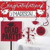 The Party Aisle™ Graduation School Decoration Kit in Red | Wayfair CECB950AEAB543AD88A906D6D6A17D9D