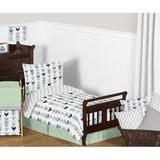 Sweet Jojo Designs Mod Arrow 5 Piece Toddler Bedding Set in Green/Gray/Blue | Wayfair ModArrow-GY-MT-Tod