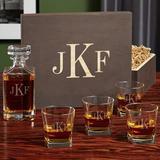Alcott Hill® Keyon Monogram Custom 5 Piece Whiskey Decanter Set Glass, Size 10.75 H x 5.0 W in | Wayfair 5C197377CE834F5EA3A474AE11CCB53E