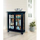 Darby Home Co Shelia Lighted Console Curio CabinetWood in Black, Size 41.0 H x 38.0 W x 14.0 D in | Wayfair D872649769B34AB3B2B737323A64307E