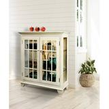 Darby Home Co Shelia Lighted Console Curio CabinetWood in White/Brown, Size 41.0 H x 38.0 W x 14.0 D in | Wayfair 1A5475332D8844F082C33771606AEF89