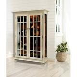 Darby Home Co Shelia Lighted Curio CabinetWood in White/Brown, Size 58.0 H x 40.0 W x 14.0 D in | Wayfair 74C9B9D33E29477E81C807B374CE283F