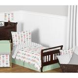 Sweet Jojo Designs Mod Arrow 5 Piece Toddler Bedding Set in Pink/Green/Gray | Wayfair ModArrow-CR-MT-Tod
