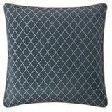 Waterford Bedding Everett Sham Polyester in Blue, Size 26.0 H x 26.0 W x 26.0 D in | Wayfair SHEVRTW34626X26