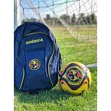 Club America Soccer Backpack Mochila de Futbol + Liga MX Aguilas del America Soccer Ball Size 5 Official Licensed Soccer Gift for Kids Adults Set Bundle Soccer Bag with Ball Holder