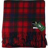 "I LUV LTD Scottish Tartan Warm Wool Mix Throw Blanket Robertson Red Plaid Couch Blanket Bed Throw Blankets Wool Rug Outdoor Blankets and Throws 60"" x 72"""