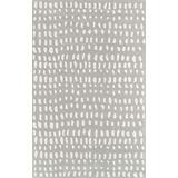 "Novogratz by Momeni Delmar Boho Dots Wool Area Rug, 8'0"" x 10'0"", Grey"