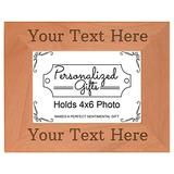 Personalized Picture Frame Your Message Personalized Wood Engraved 4x6 Landscape Picture Frame