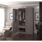 Pur by Bestar Pullout Armoire in Bark Gray - Bestar 26861-47