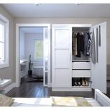 Pur by Bestar Pullout Armoire in White - Bestar 26861-17