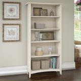 Bush Furniture SAB132AW-03 - Salinas 5 Shelf Bookcase in Antique White