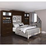 """""""Pur by Bestar 136"""""""" Queen Wall Bed kit in Chocolate - Bestar 26886-69"""""""