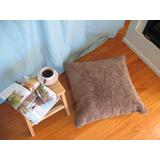 """""""Truffle - Bowron Single Sided Curly Shorn 24"""""""" Sq Floor Pillow - MCOSWC60UMS-TR"""""""