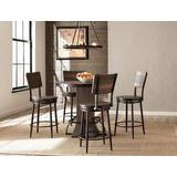 Jennings 5-Piece Round Counter Height Dining Set w/ Non-Swivel Counter Stools - Hillsdale 4022CDT5PC
