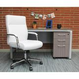 Boss Office Products B696C-WT Modern Executive Conference Chair in White
