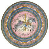 """Carousel Kids Rug in Pink (7'7"""" Round) - Joy Carpets 1473E-02"""