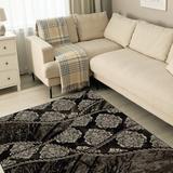 Jewel Ybor Brown & Black 8x10.4 - Linon Home Decor RUG-BYJ0581