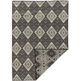 Salonika Reversible Noussa Grey 5x8 - Linon Home Decor RUG-SA4557