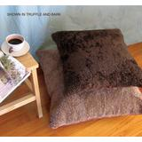 """""""Black - Bowron Single Sided Curly Shorn 24"""""""" Sq Floor Pillow - MCOSWC60UMS-BL"""""""