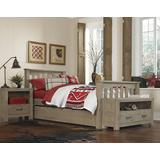 Highlands Harper Twin Bed w/ Trundle in Driftwood - Hillsdale 10050NT
