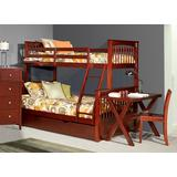 Pulse Twin Over Full Bunk w/ Trundle in Cherry - Hillsdale 31050NT